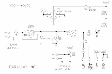 gas sensors\u2013connection details alselectro Co Sensor Mq7 Circuit Diagram #7