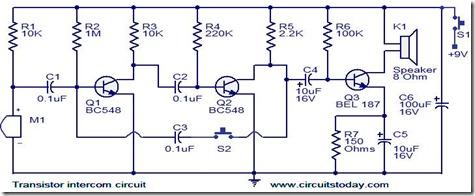 transistor-intercom-circuit