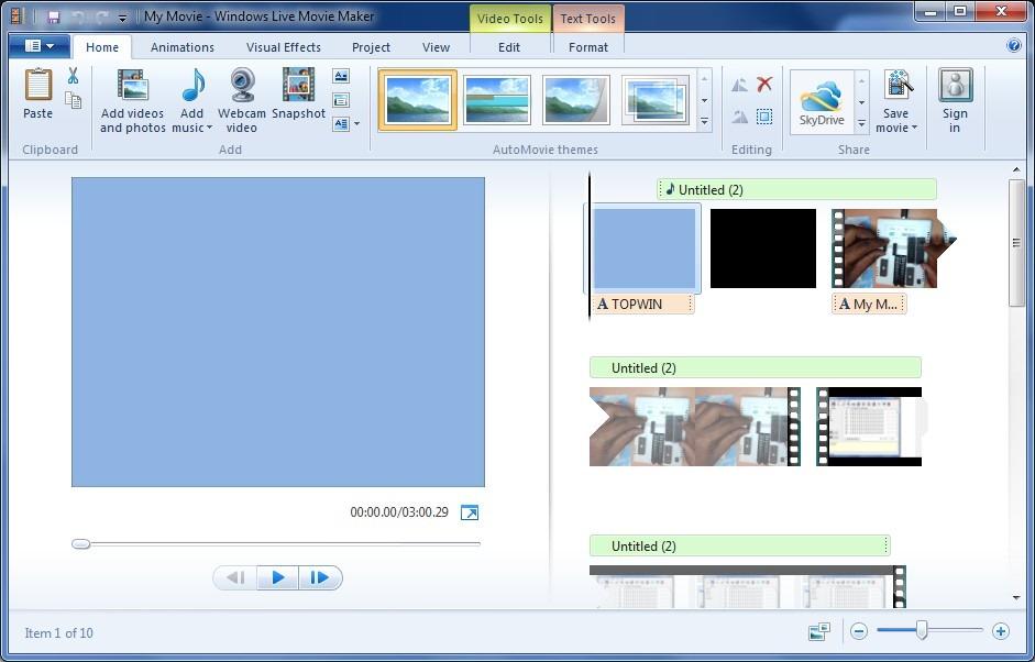 Windows Live Movie Maker 16435080205 - Скачать