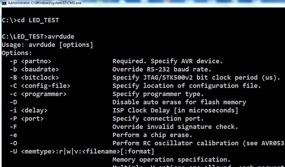 AVR Programming–Tutorial 4–AVRDUDE command line Programming   alselectro