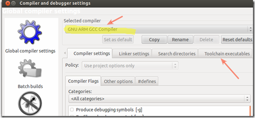 Compiler and debugger settings_045