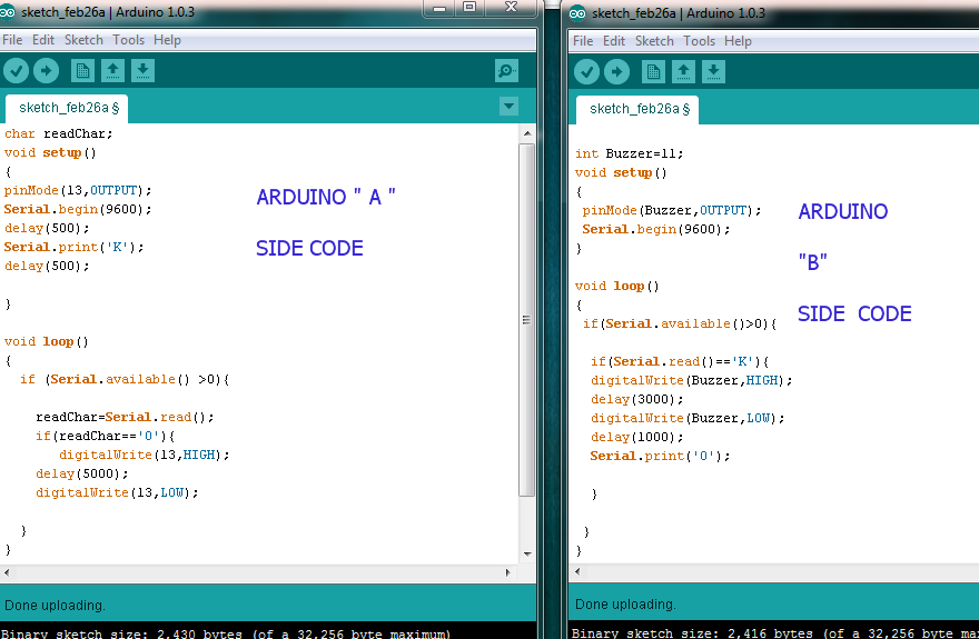how to send code to arduino