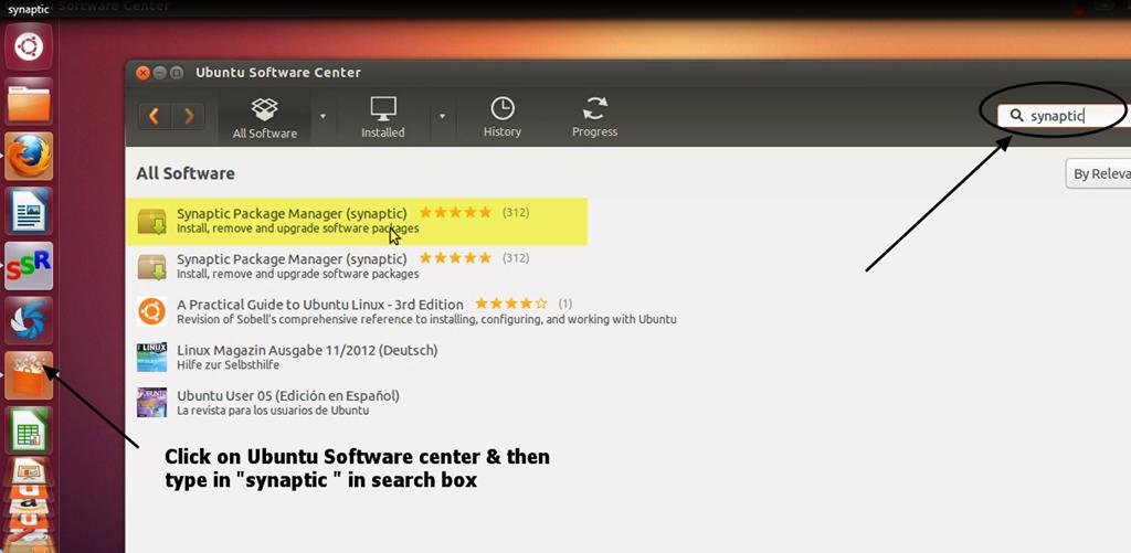 synaptic package manager ubuntu 13.10