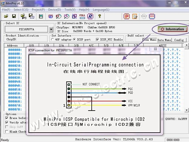 UNIVERSAL PROGRAMMER WITH ICSP MINIPRO 866 A | alselectro