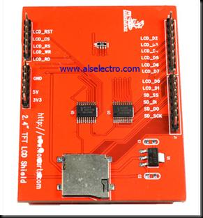 Touch Screen TFT Shield for Arduino Uno | alselectro