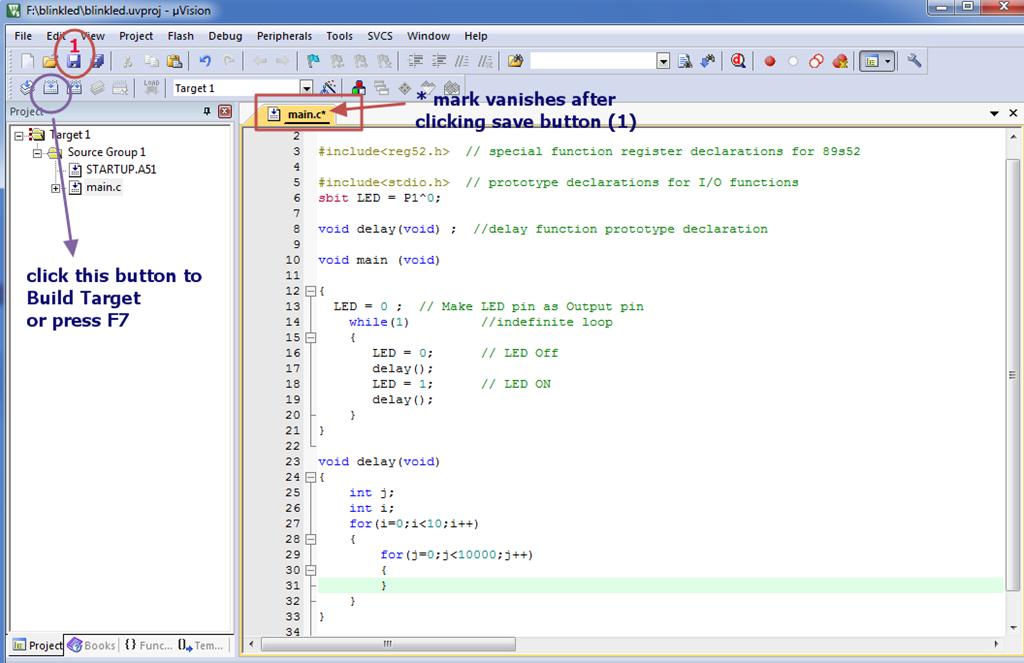 How to write C code in KEIL | alselectro