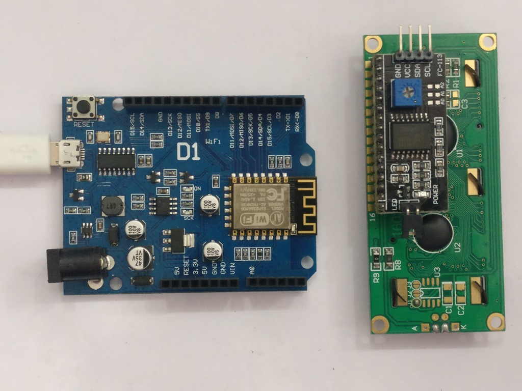 ESP8266 WEMOS D1 With I2C Serial LCD | alselectro