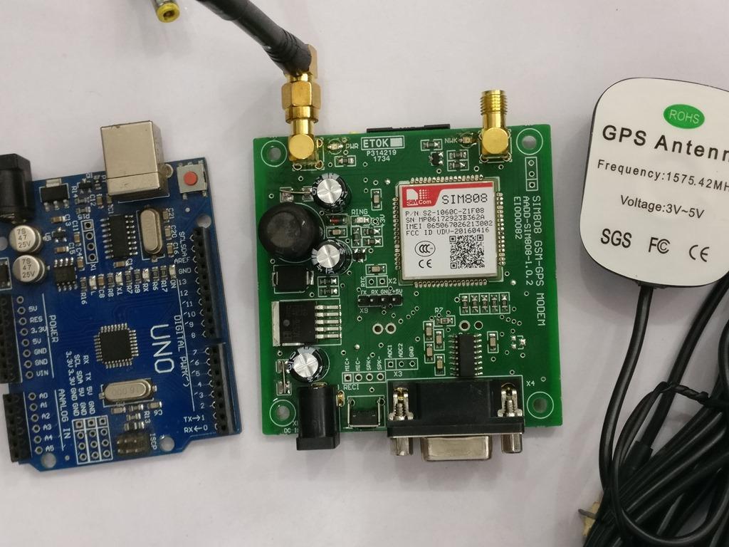 Sim808 GPS GSM Module – Sending Gps Location SMS | alselectro