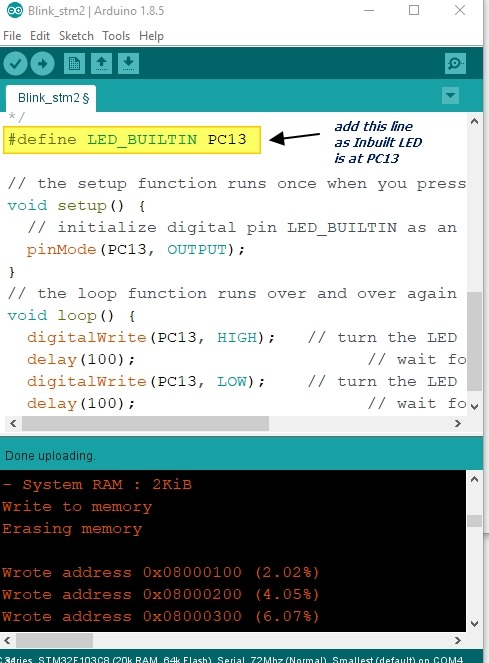 STM32F103 Bluepill–Getting Started with Arduino core