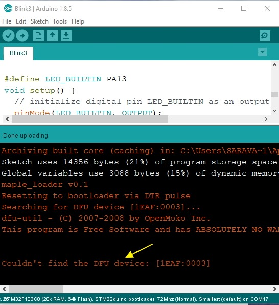STM32 F103 Bluepill ( Arduino core) – USB upload | alselectro