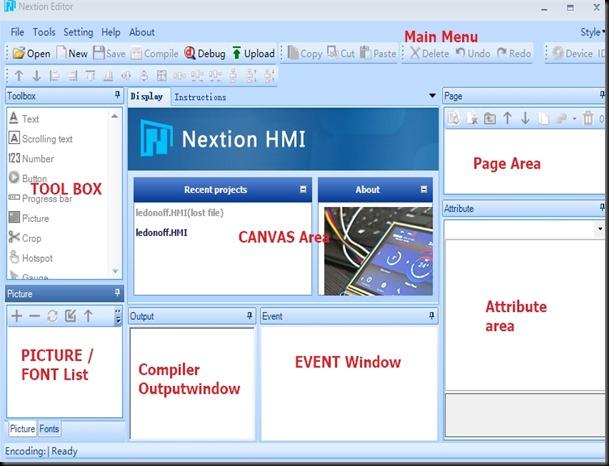 Nextion Set Text